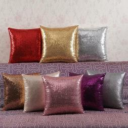 Shiny Beaded Cushion Cover Glitter Sequins Throw Pillow Case