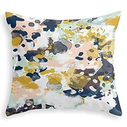 Sloane - Abstract Painting In Modern Fresh Colors Navy, Mint