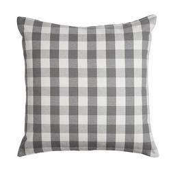"Ikea Smanate 20"" x 20"" Gray & White Gingham Cushion Cover -"