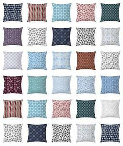 Snowflake Throw Pillow Cases Cushion Covers by Ambesonne Hom