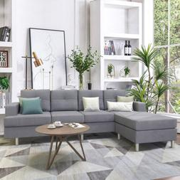 Sofa Sets for Living Room w/Reversible Chaise Lounge L Shape