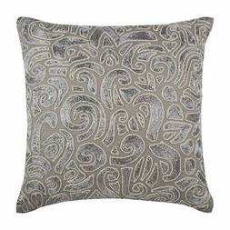 Sofa Throw Pillow 12x12 inch Linen Designer Taupe Grey, Zard