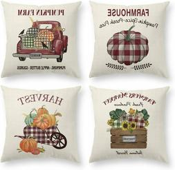 Sofa Throw Pillow Case Cushion Cover Retro Farmhouse Home Su