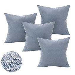 Deconovo Soft Cusion Covers Faux Linen Cushion Covers with I