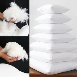 Soft FEATHER FABRIC Fill Square White Cushion Core Inner Nat