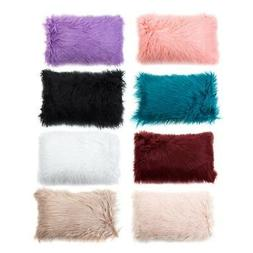 Soft Fur Plush Throw Pillow Cases Home Decor Sofa Waist Fluf