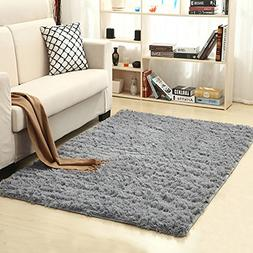 LOCHAS Ultra Soft Indoor Modern Area Rugs Fluffy Living Room