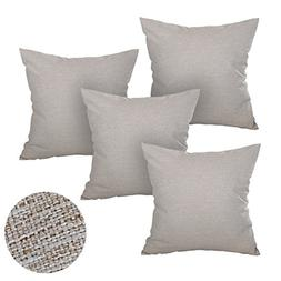Deconovo Soft Pillow Cases Faux Linen Pillow Covers with Inv