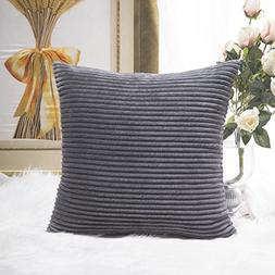HOME BRILLIANT Decoration Super Soft Striped Corduroy Decora