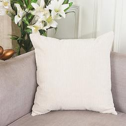 Home Brilliant Solid Decorative Toss Pillow Case Corn Cordur