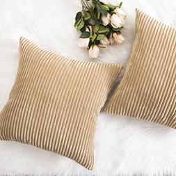 HOME BRILLIANT Decor Throw Pillow Cover Decorative Soft Velv