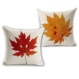 Wonder4 Spring Leaves Decration Pillow Case, Nature Leaves P