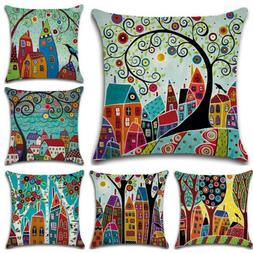 Square Colorful Pillow Case Throw Pillow Sofa Car Couch Bedr