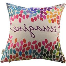 HOSL Square Decor Throw Pillow Case Cushion Cover Colorful I