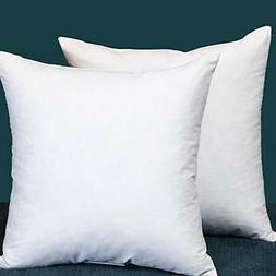 Set of 2 18X18 Square Decorative Throw Pillows Down & Feathe