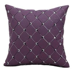Famibay Square Modern Diamonds Shape Throw Pillow Case Geome