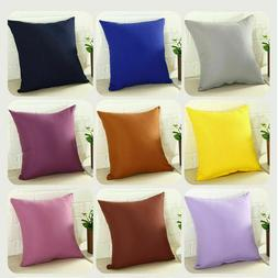 Pillowcase Party Candy Color Throw Pillow Cover Cushion Case