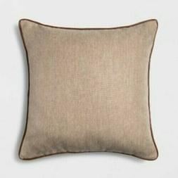 Threshold Square Toss/Throw Pillow Neutral/Beige Color Faux