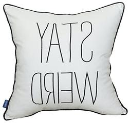 Stay Weird Quote Embroidered Pillow Cover Pillow Cases Decor