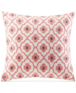"""Echo Sterling Embroidered Floral-Medallion 18"""" Square Decora"""
