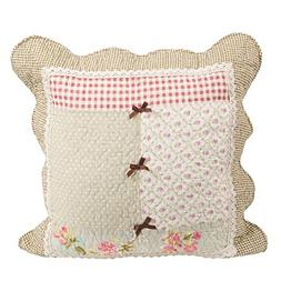 Stitching Floral Patchwork Quilted Throw Pillow Cushion Cove