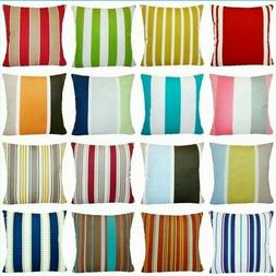 striped multi color throw pillow cover sofa