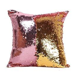 OJIA Stylish Sequin Mermaid Throw Pillow Cover with Magical