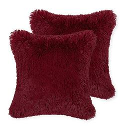 Pack 2 CaliTime Super Soft Throw Pillows Cases Covers Plush