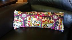 superhero rectangular throw pillow wonder woman purple