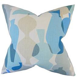 The Pillow Collection Surf Orla Geometric Bedding Sham, Quee