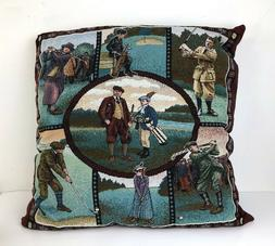 Tapestry Golf Throw Pillow Novelty Golfing Large Square Deco