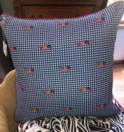 Vineyard Vines Target Flag Whale Blue Gingham Throw Pillow 2