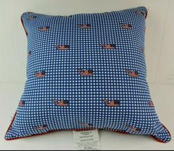Vineyard Vines for Target Flag Whale Blue Gingham Throw Pill