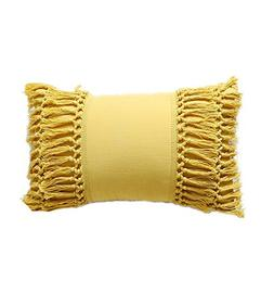 "Tassel Throw Pillow Decorative Cotton Sham,12""X20"""
