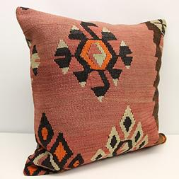 Throw kilim pillow cover 24x24 inch  Huge Kilim pillow cover
