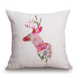 Uloveme Throw Pillow Case Of Deer For Seat Girls Festival Ou