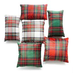 Hofdeco Throw Pillow Case Royal Stewart Classic Plaid Velvet