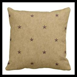 Throw Pillow Cover Americana Stars Decorative Case Holiday H