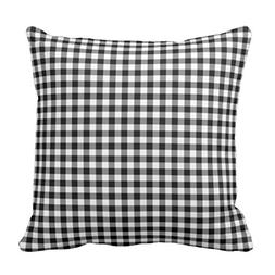 Emvency Throw Pillow Cover Colorful Check Black and White Gi
