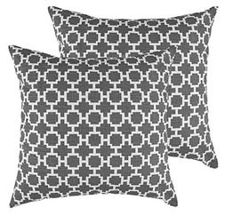 TreeWool Throw Pillow Cover Fretwork Chain Accent Cotton Lin