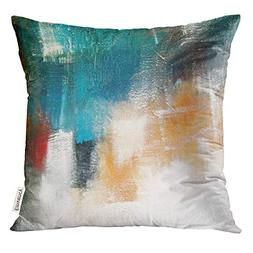 Emvency Throw Pillow Cover Canvas Colors Shading on Acrylic