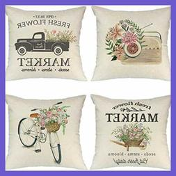 throw pillow covers 18x18 set of 4