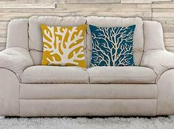 Throw Pillow Covers | 20 x 20 Inch | 2 PCS Set | Double Side