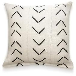 Throw Pillow Covers 18 x 18: Authentic African Mud Cloth Fab