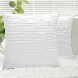Throw Pillow Covers, Yeadous 2 Pack Jacquard Striped 100% Co