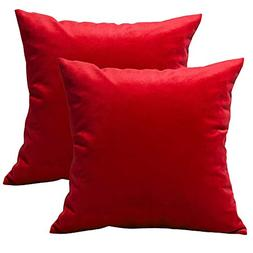 2-Pack Throw Pillow Covers with 100% Grade A Luxury & Super