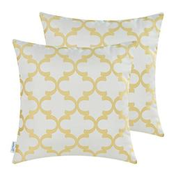Pack of 2 CaliTime Throw Pillow Covers 18 X 18 Inches Both S