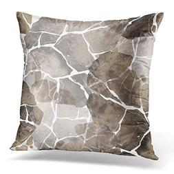 Emvency Throw Pillow Covers Case Abstract Imprints Stones Ha