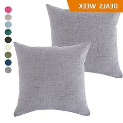Set of 2 Throw Pillow Covers Coastal Cushions Fine Faux Line
