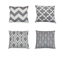 Throw Pillow Covers Decorative Pillow Cases Grey Geometric S